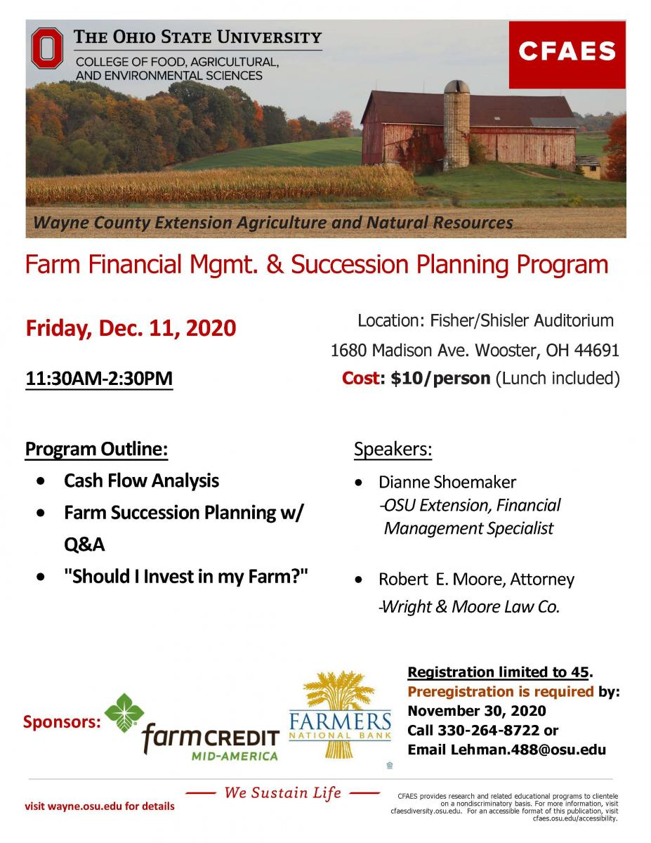 Farm management flyer